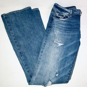 American Eagle Artist Stretch distressed jeans 0